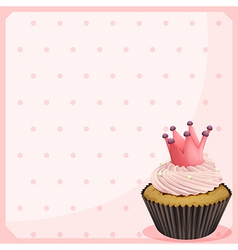 A blank paper with a cupcake vector image