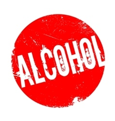 Alcohol rubber stamp vector