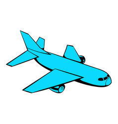Passenger airplane icon icon cartoon vector