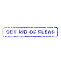 Get rid of fleas rubber stamp vector