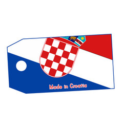 Croatia flag on price tag with vector