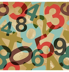 Vintage numbers pattern vector