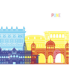 Pune skyline pop vector
