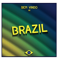 Colorful digital background brazil vector