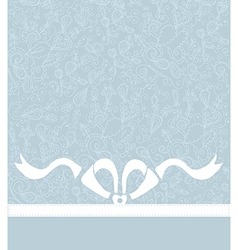 Wedding or celebration background with bow and vector image