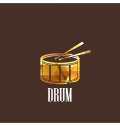 With drum icon vector