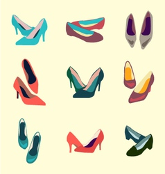 Seamless shoes pattern 1 38 vector