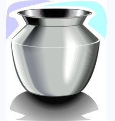 Steel pot vector