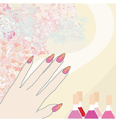 Manicure - abstract card vector