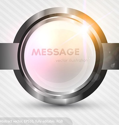 Metal banner background vector
