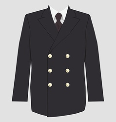 Military coat uniform vector