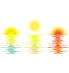 Set sunrise daylight sunset vector