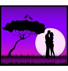 share a kiss vector image