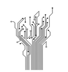 Abstract circuit tree with shadow vector image vector image