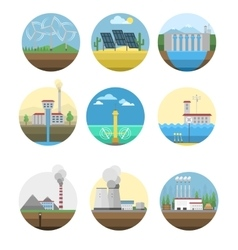 Alternative energy electricity power station vector
