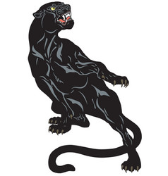 Black panther tattoo vector