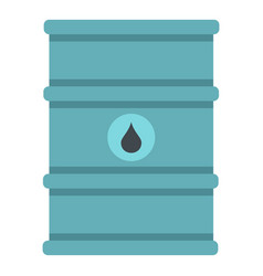 blue oil barrel icon isolated vector image vector image