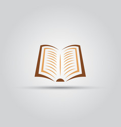 book isolated colored icon vector image vector image