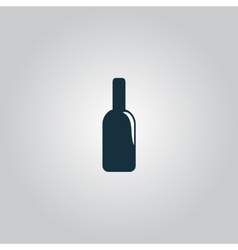 bottle of alcohol icon vector image vector image