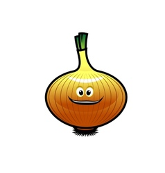 Cheeky little cartoon golden onion vector