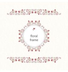 decorative frame Elegant element for vector image vector image