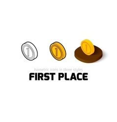 First place icon in different style vector image vector image