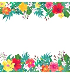 Frame for your text with floral watercolor vector