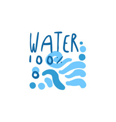 Hand drawn signs of pure water waves for logo text vector
