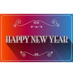 Happy New Year Slogan vector image vector image