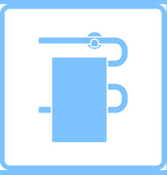 heated towel rail icon vector image