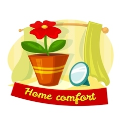 Home comfort concept design vector image vector image
