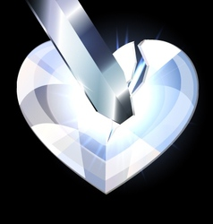 Ice heart-crystal and blade vector
