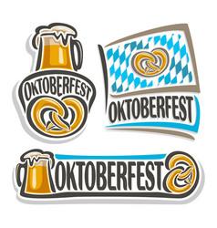 logo for oktoberfest vector image