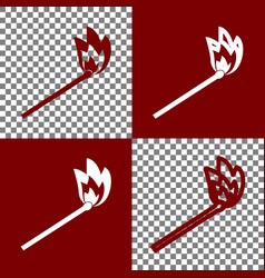 Match sign bordo and white vector