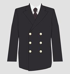 Military coat uniform vector