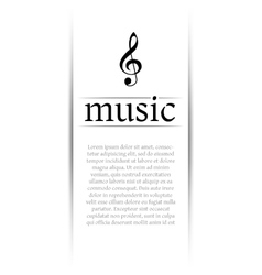 Music banner with shadow vector
