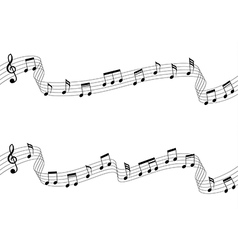 Musical chords flowing ribbon style vector