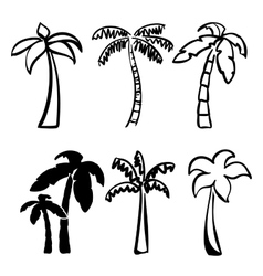 Palm icon sketch collection cartoon vector
