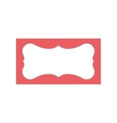 Pink vintage frame vector