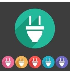 Plug power energy icon flat web sign symbol logo vector