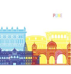 pune skyline pop vector image vector image