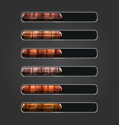 Set of chocolate bar downloader vector