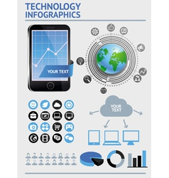 set with infographics elements vector image