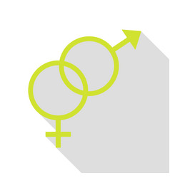 Sex symbol sign pear icon with flat style shadow vector