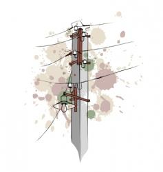 Urban grungy pillar vector