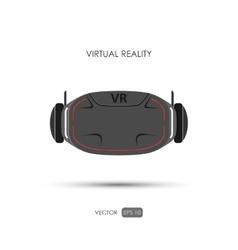 Virtual reality helmet on white background vector image