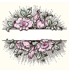 Watercolour flower background vector