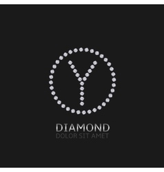 Y letter with diamonds vector