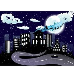 Santa Claus Coming to City8 vector image