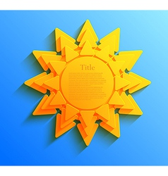Sun background eps10 vector
